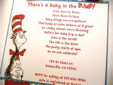 Cat In the Hat Baby Shower Invites Dr Seuss Cat In the Hat Inspired Baby Shower or Birthday