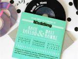 Cd Wedding Invitations Retro Cd Sleeve Wedding Invitations by Vanilla Retro