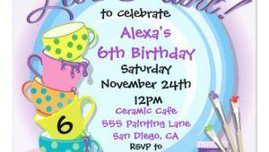 Ceramic Party Invitations Ceramic Pottery Painting Party Invitations Zazzle