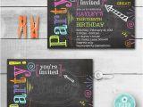 Chalkboard Birthday Invitation Template Free Birthday Invitation Chalkboard Invitation Neon Colors