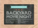 Chalkboard Birthday Invitation Template Free Movie Night Invitation Templates Du16 Advancedmassagebysara