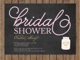 Chalkboard Mason Jar Bridal Shower Invitations Chalkboard Bridal Shower Invitation Mason Jar