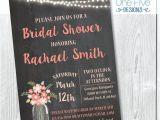 Chalkboard Mason Jar Bridal Shower Invitations Chalkboard Bridal Shower Invitation with Mason Jars