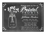 Chalkboard Mason Jar Bridal Shower Invitations Chalkboard Mason Jar Bridal Shower Invitation