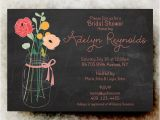 Chalkboard Mason Jar Bridal Shower Invitations Mason Jar Bridal Shower Invitation Chalk by Divinegivedigital