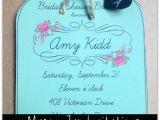 Chalkboard Mason Jar Bridal Shower Invitations Mason Jar Invitations and Chalkboard Tags for Weddings or