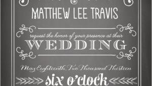 Chalkboard Wedding Invitation Template Free 26 Chalkboard Wedding Invitation Templates Free Sample