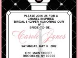 Chanel themed Bridal Shower Invitations 10 Best Ideas About Chanel Bridal Shower On Pinterest