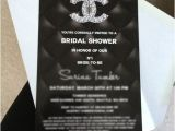 Chanel themed Bridal Shower Invitations Chanel themed Bridal Shower Invitation
