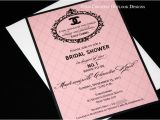 Chanel themed Bridal Shower Invitations Classic Coco Chanel Wedding Baby Bridal Shower Invitation