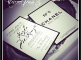 Chanel themed Bridal Shower Invitations Coco Chanel Bridal Shower theme