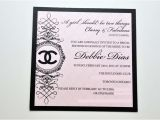 Chanel themed Bridal Shower Invitations Coco Chanel Party Invitation