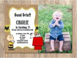 Charlie Brown 1st Birthday Invitations Items Similar to Charlie Brown Birthday Invitation