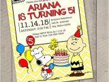Charlie Brown 1st Birthday Invitations Peanuts Charlie Brown Snoopy Printable Invitation Digital File