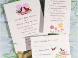 Cheap Love Bird Wedding Invitations Modern Love Birds with Heart Printable Wedding Invitations