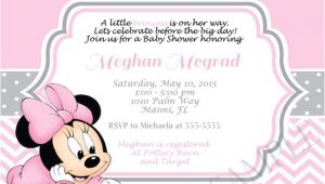 Cheap Minnie Mouse Baby Shower Invitations Baby Minnie Mouse Baby Shower Invitations – Gangcraft