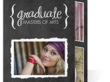 Cheap Tri Fold Graduation Invitations Graduation Invitation Typographic Chalkboard Graduate