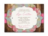 Cheap Vintage Bridal Shower Invitations Rustic Bridal Shower Invitation Rose Baby Shower Rustic