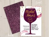 Cheap Wine themed Bridal Shower Invitations Wine themed Bridal Shower Invitations Purplemoon Co