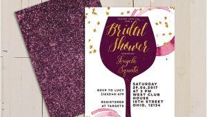 Cheap Wine themed Bridal Shower Invitations Wine themed Bridal Shower Invitations Purplemoon Co