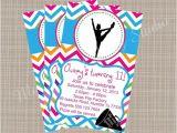 Cheerleading Birthday Party Invitations Cheerleading themed Printable Party Invitation