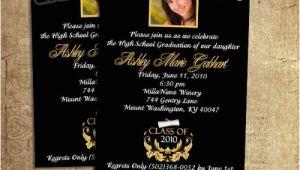 Cheetah Graduation Invitations High School Graduation Cheetah Invitations with Gold