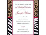 Cheetah Party Invitations Cheetah and Zebra Birthday Party Invitations Paperstyle