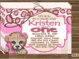 Cheetah Party Invitations Cheetah Leopard Pink Birthday Invitation First Birthday Invite