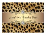 Cheetah Party Invitations Cheetah Print Birthday Party Invitation