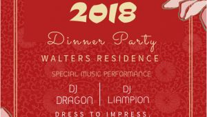 Chinese Party Invitation Template Copy Of Chinese New Year Party Invitation Template