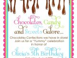 Chocolate Party Invitations Free Chocolate Candy Invitations Ooey Gooey Chocolate Sweet Shop