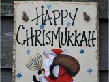 Chrismukkah Party Invitations Happy Chrismukkah Christmas Hanukkah Hand Painted Santa