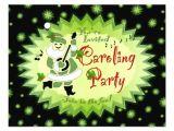 Christmas Caroling Party Invitations Musical Santa Elf Christmas Caroling Party Invitat 4 25×5