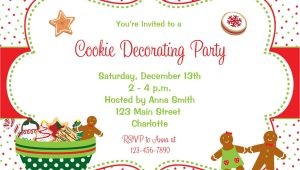 Christmas Cookie Decorating Party Invitations Free Cookie Decorating Party Invitation Christmas Cookies