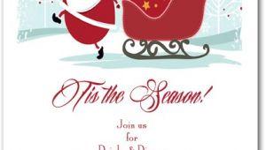 Christmas Eve Party Invitations Christmas Eve Santa Party Invitations