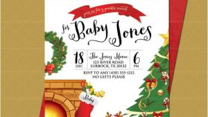 Christmas Gender Reveal Party Invitations Christmas Gender Reveal Party Invitation Baby Christmas