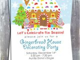 Christmas House Party Invitation Wording Gingerbread House Decoration Party Invitation E File
