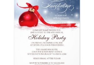 Christmas Invitation Wording for A Company Party Corporate Holiday Party Invitation Template Zazzle Com