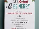 Christmas Party formal Invitation Template Christmas Invitation Free Templates Download