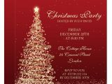 Christmas Party formal Invitation Template Elegant Christmas Party Red Invitation Zazzle Com In