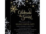 Christmas Party formal Invitation Template Holiday Party Invitations Silver and Gold Colors