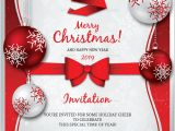 Christmas Party Invitation Template Christmas Invitation Template 26 Free Psd Eps Vector