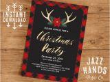 Christmas Party Invitation Template Christmas Party Invitation Template Diy Printable Holiday