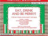 Christmas Party Invitation Template Editable Christmas Invitation Template Christmas Party Invitation