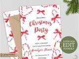 Christmas Party Invitation Template Editable Editable Christmas Party Invitation Holiday Party Invitation