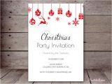 Christmas Party Invitation Template Editable Editable Holiday Invitations Printabell Create