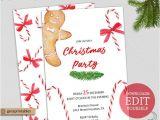 Christmas Party Invitation Template Editable Printable Christmas Invitation Template Editable Pdf