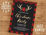 Christmas Party Invitation Template Online Christmas Party Invitation Template Diy Printable Holiday