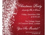 Christmas Party Invite Template Uk Christmas Party Invitation Elegant Sparkle Red Zazzle