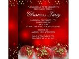 Christmas Party Invite Template Uk Red Gold Holly Baubles Christmas Holiday Party Invitation